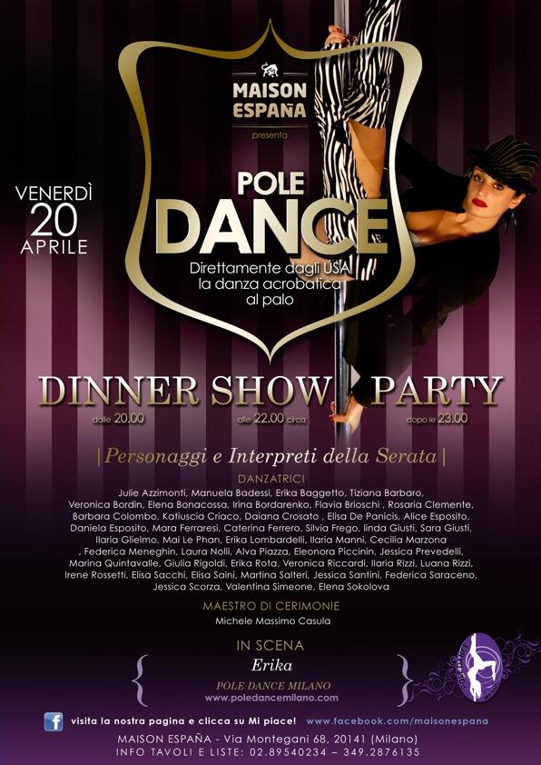 pole dance dinner show